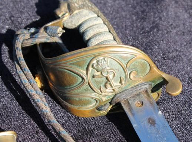 Royal Naval Officers Sword Claymore Blade