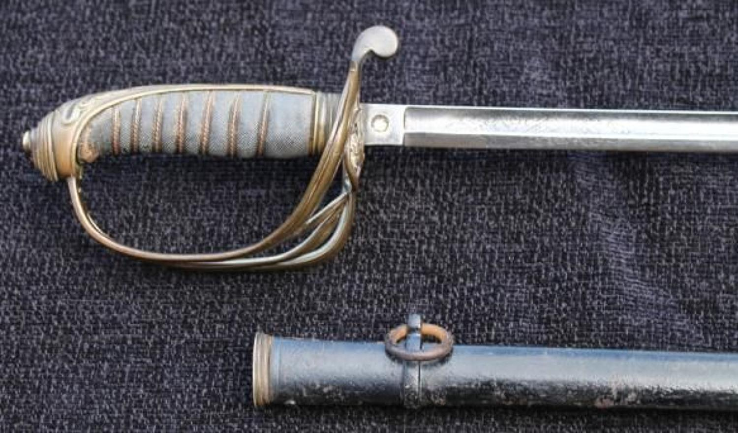 1822 Infantry Sword Named