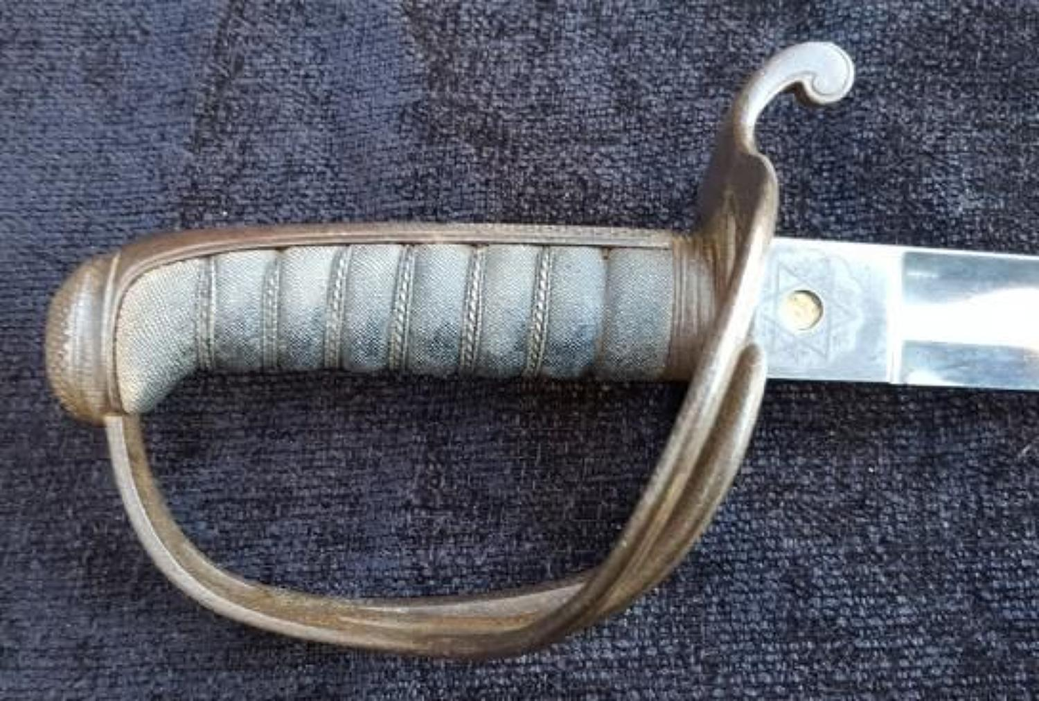 1821 Light Cavalry Officers Sword By Wilkinson Hampshire Yeomanry