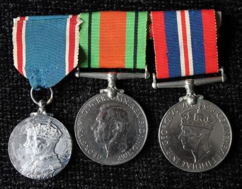 1937 Coronation Medal Trio