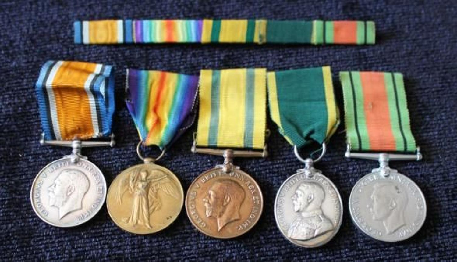 Wiltshire Regiment And MGC TFWM Group Of Five