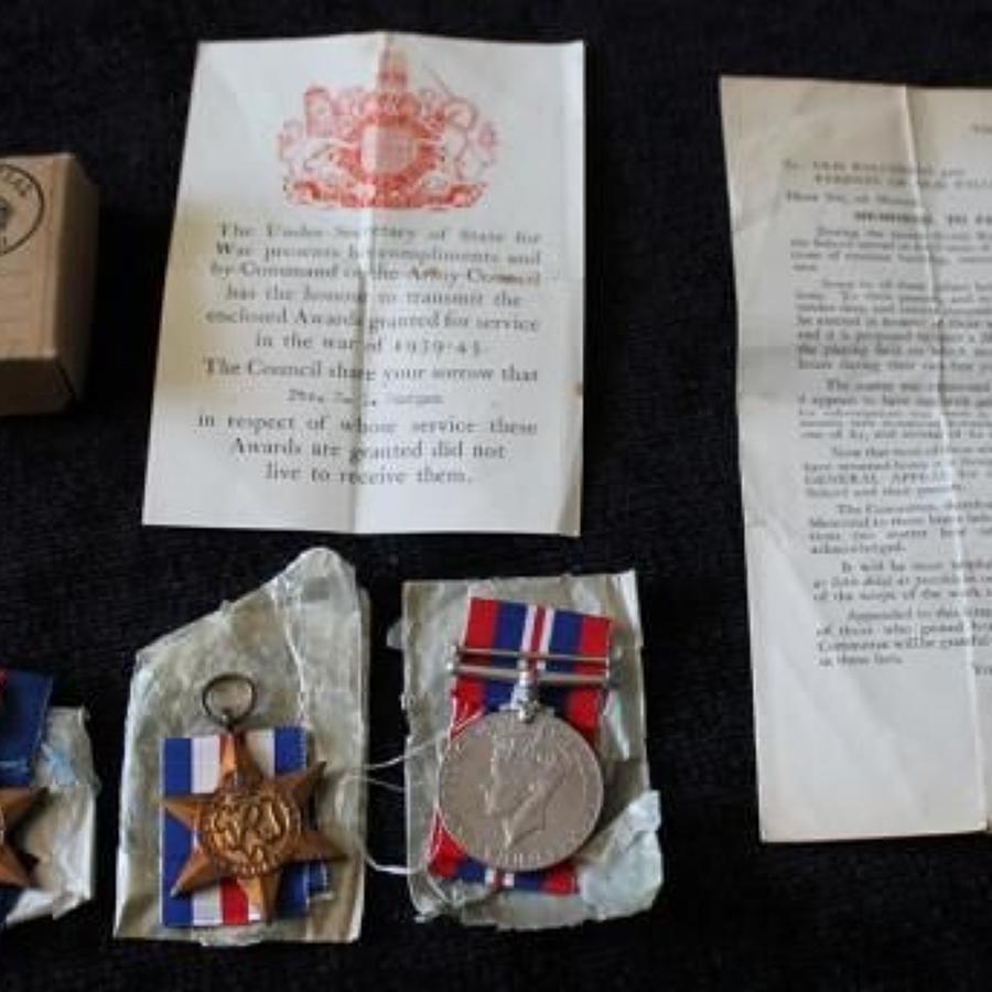 WW2 Casualty Group 3rd Monmouthshire Regiment