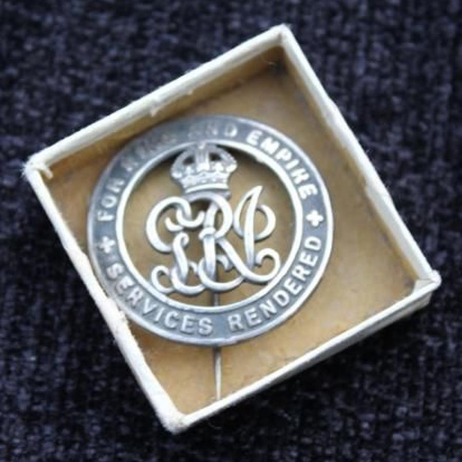 Boxed WW1 Silver War Badge