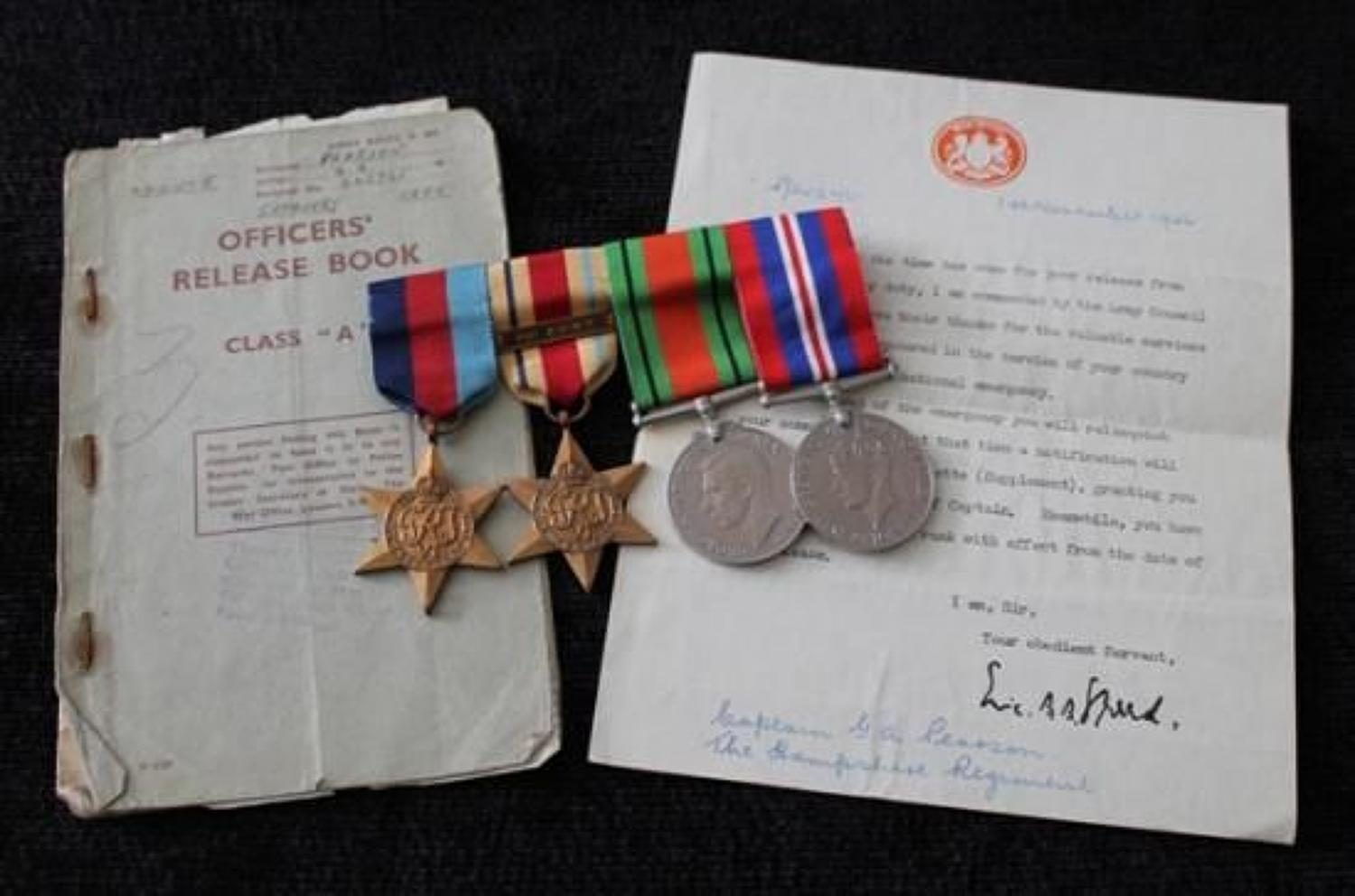 Hampshire Regiment Officers Medals