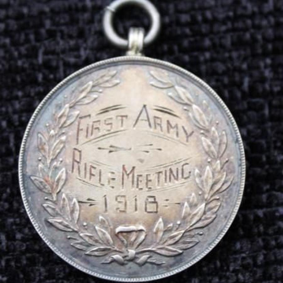 First Army Rifle Meeting 1918 Silver Medal