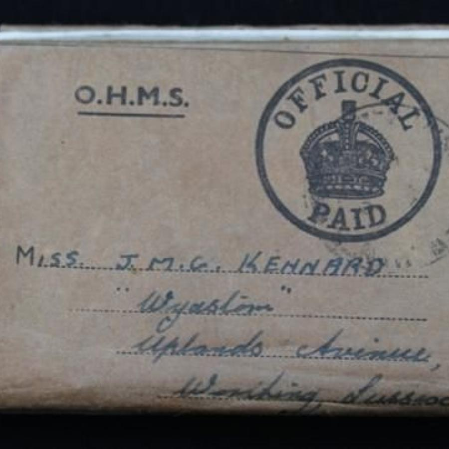 Boxed 1939-45 War Medal Female Recipient