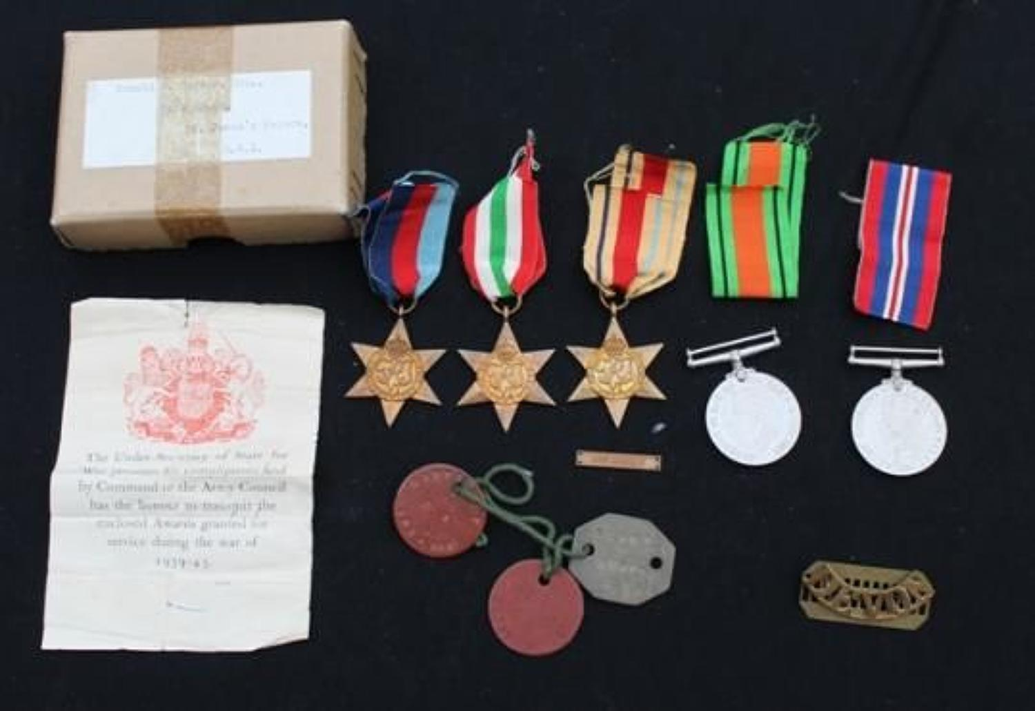 WW2 8th Army Group of 5 Royal Household
