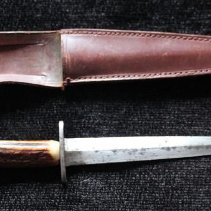 Stag Handled FS Fighting Knife