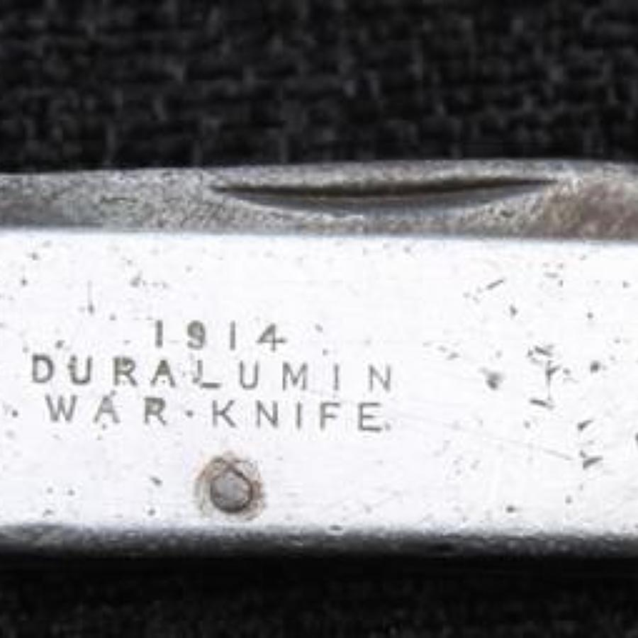 Duralumin War Knife 1914