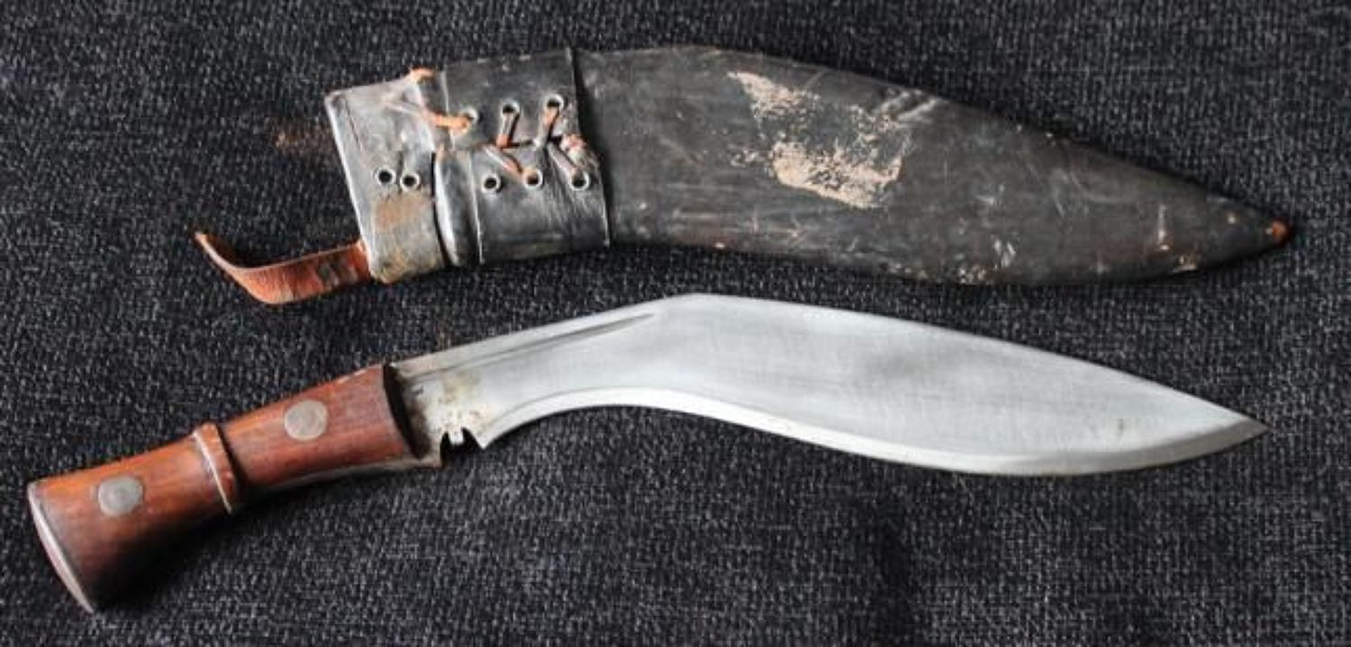 MKIII Military Kukri And Frog