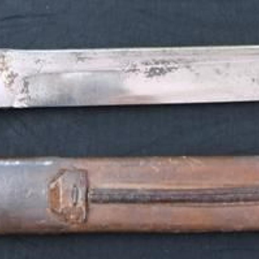 Canadian Ross Bayonet Converted to a Fighting Knife