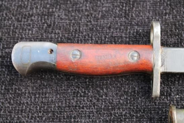 1944 Dated OWEN SMG Bayonet