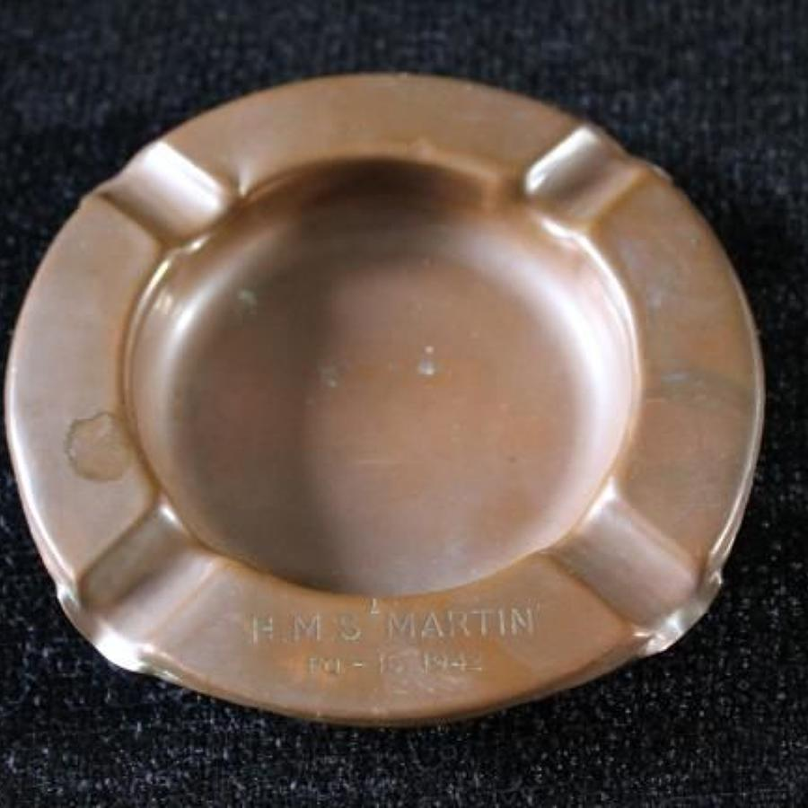 Copper Tray HMS Martin