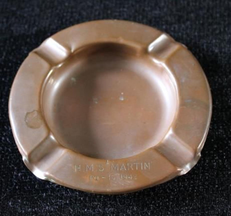 Copper Tray HMS Martin