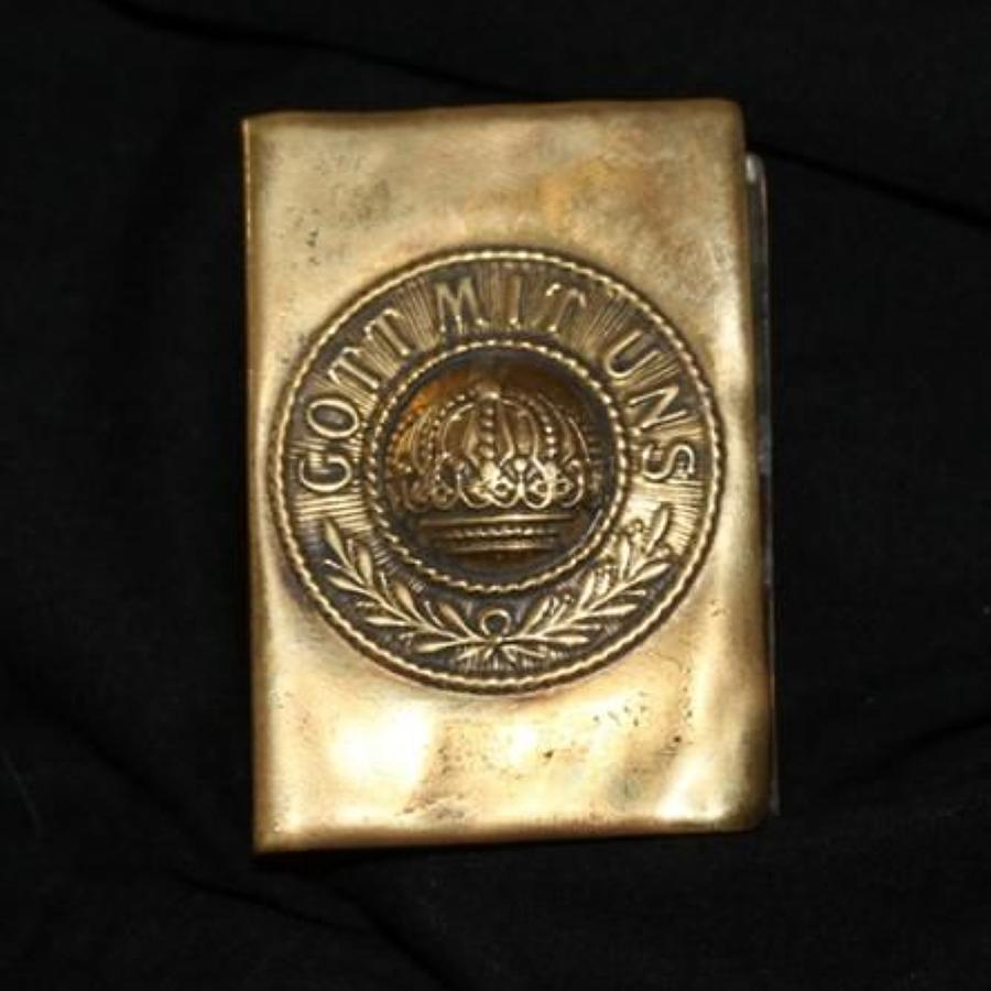 Trench Art Match Box Cover