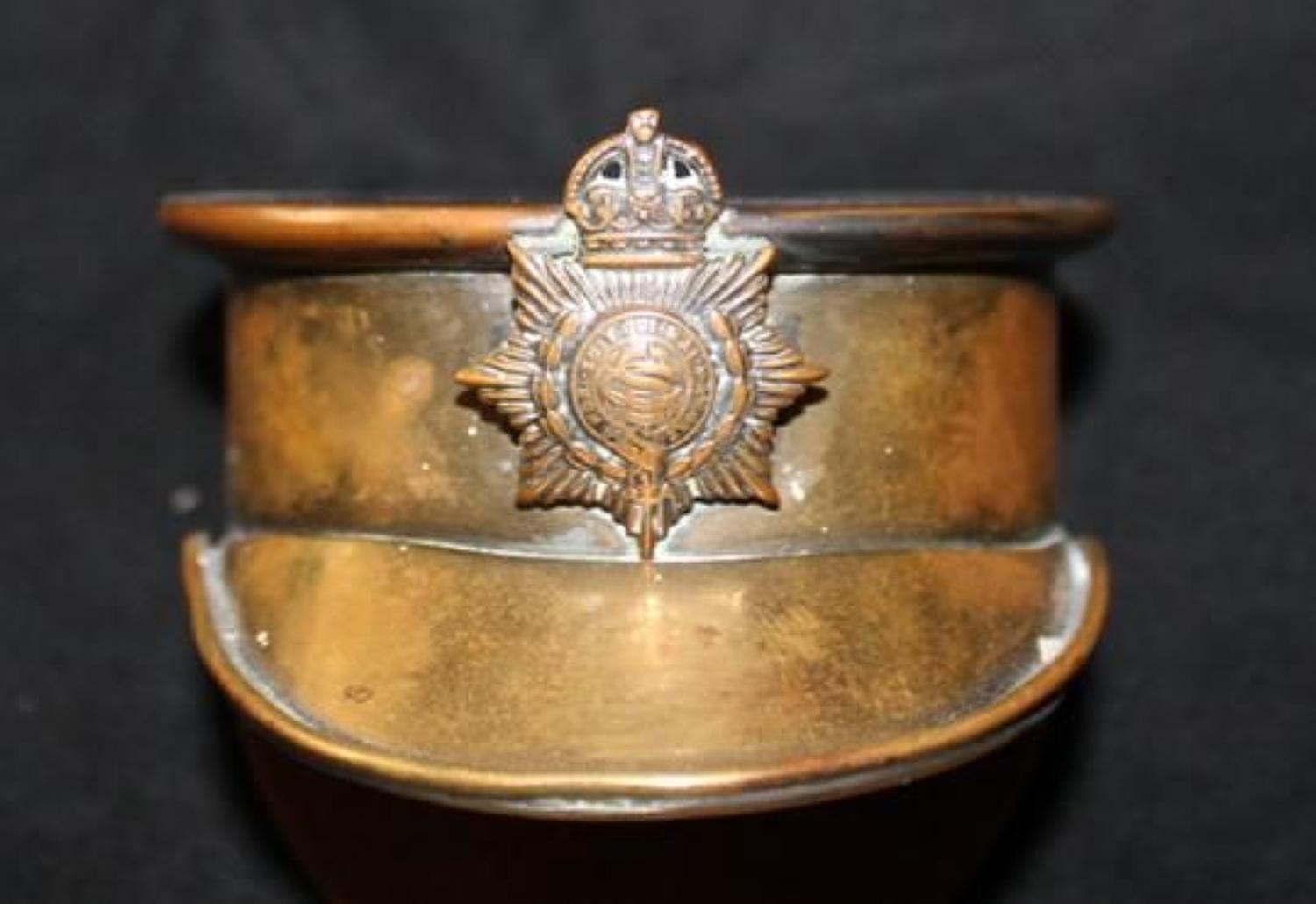 Trench Art Service Cap Snuff Box