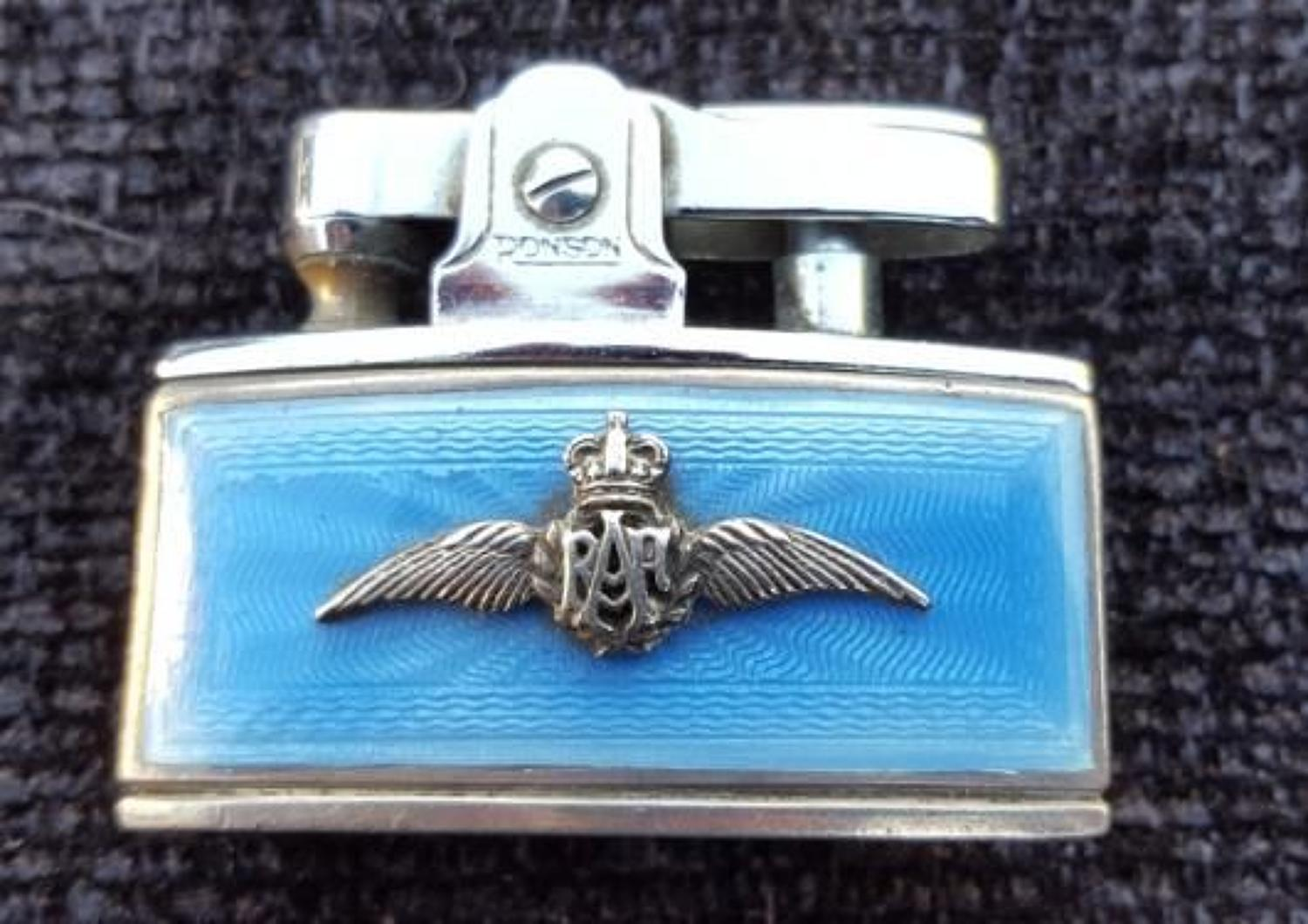 Enamel RAF Lighter