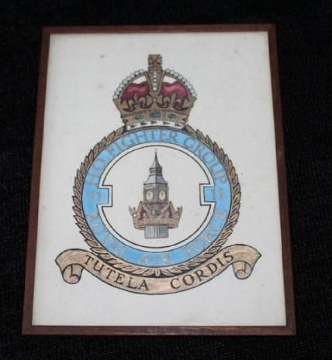 Hand Painted No 11 Fighter Group Badge