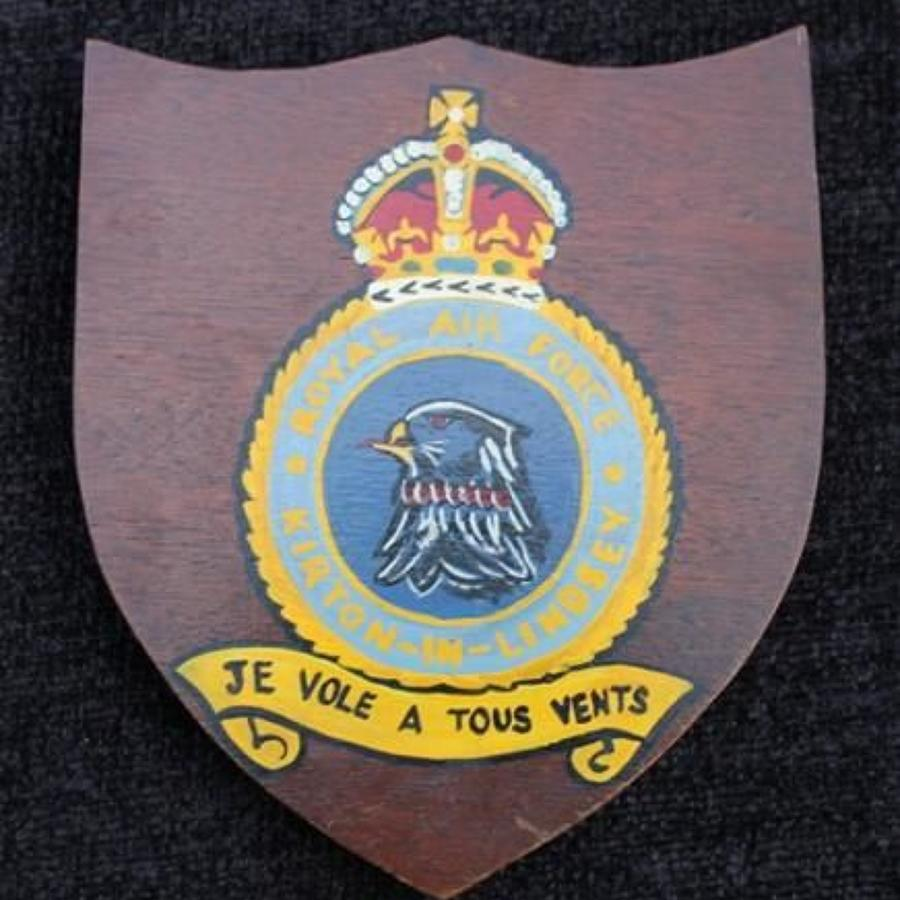 RAF Kirton-in-Lindsey Painted Shield