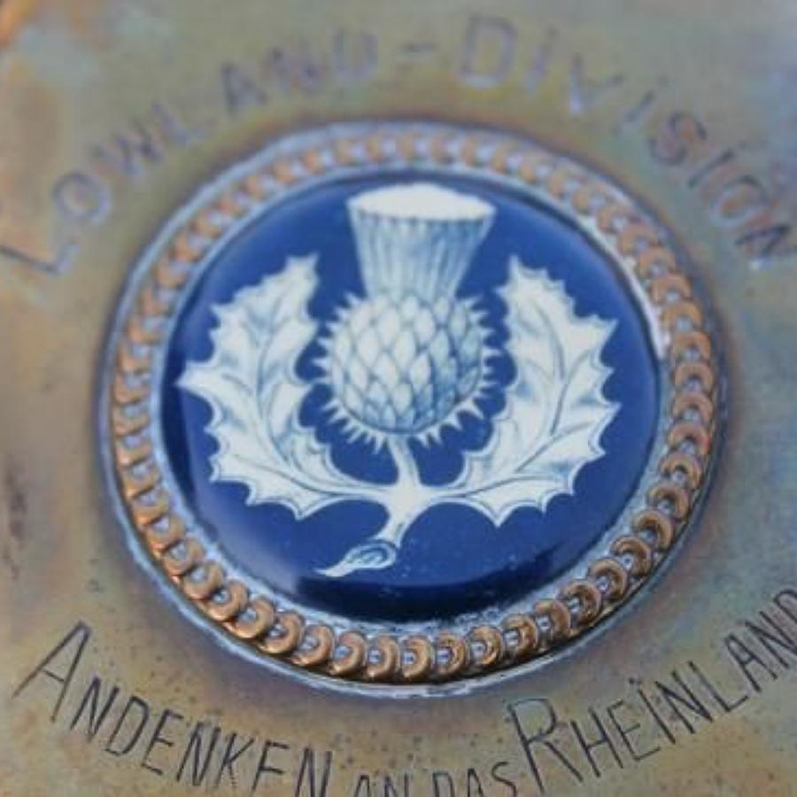 WW1 Lowland Division Cigarette Case