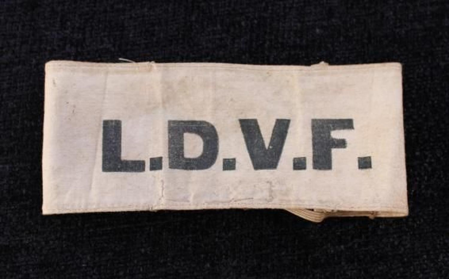 Local Defence Volunteer Force Cloth Arm Band