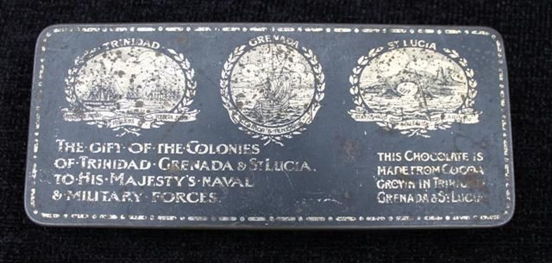 WW1 Trinidad, Grenada & St Lucia Gift Tin