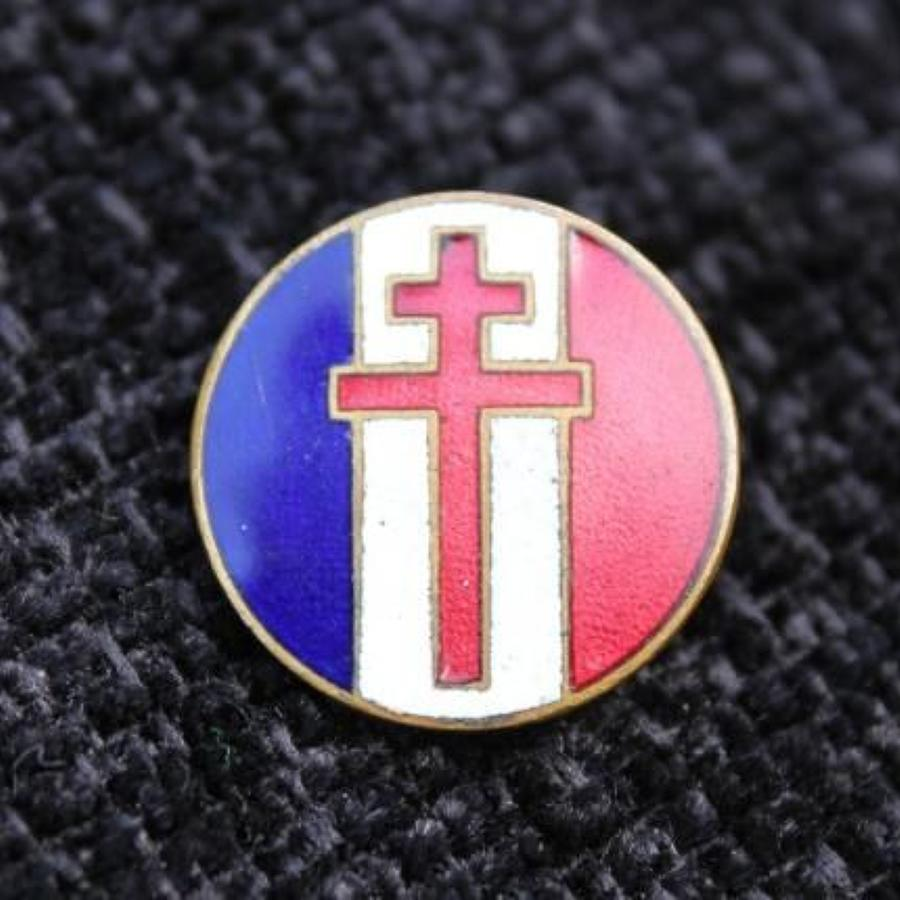 Free French Enamel Badge