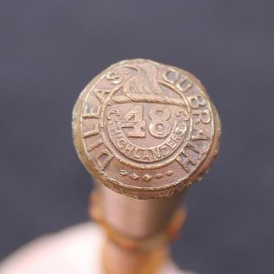 Canadian 48th Highlanders Swagger Stick