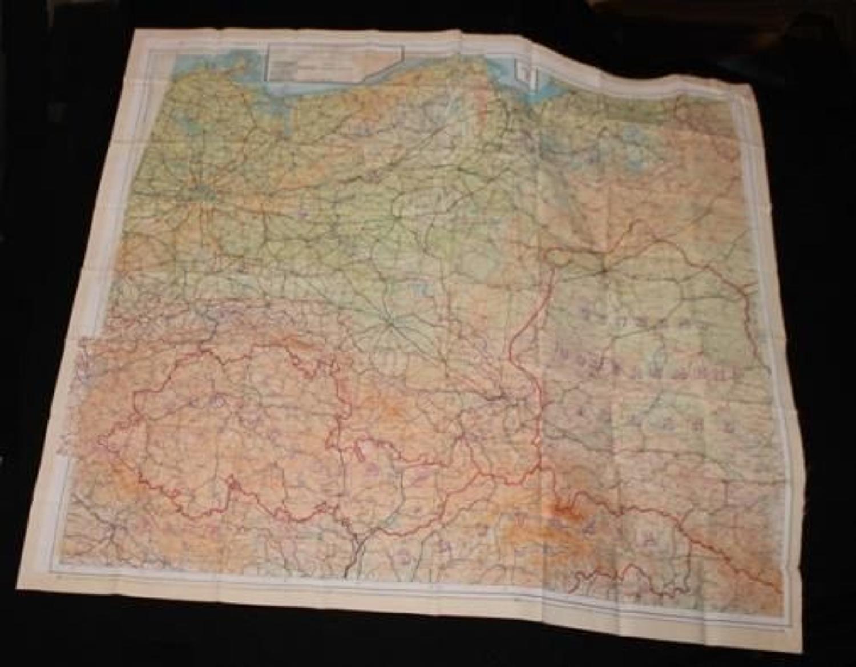 Royal Air Force Silk Escape Map Sheets E&F