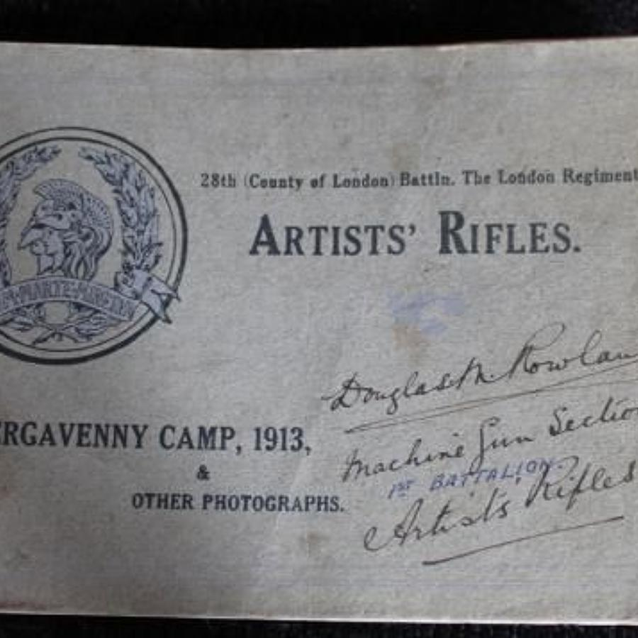 28th Battalion London Regiment Booklet And Reunion Photograph