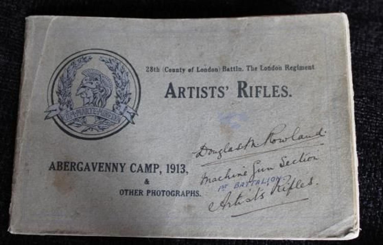 28th Battalion London Regiment Booklet And Reunion Photograph
