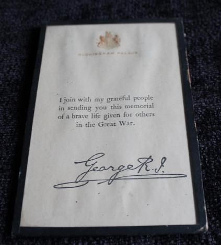 Buckingham Palace Condolence Slip