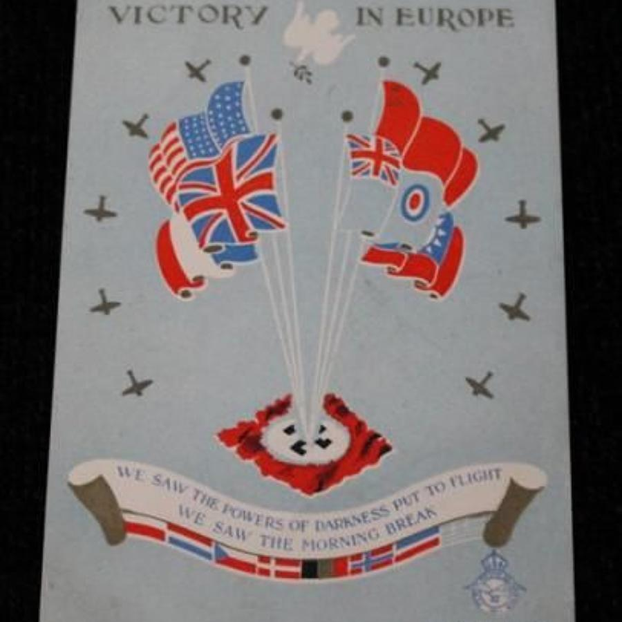RAF Victory In Europe Message