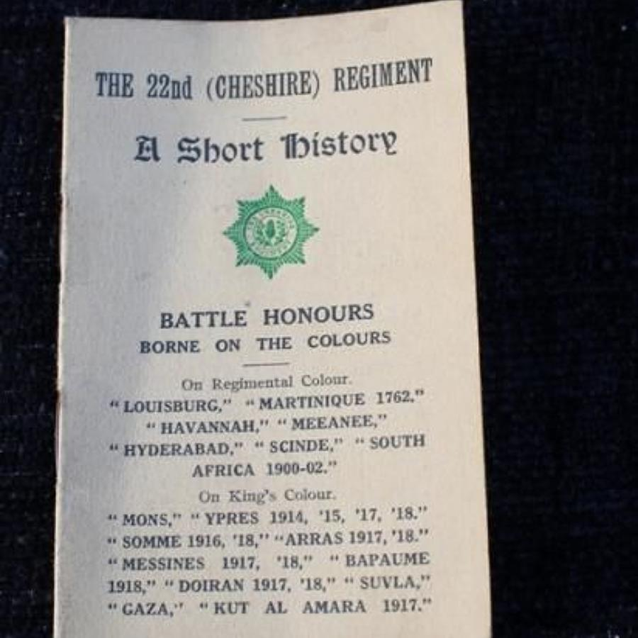 History Of The 22nd Cheshire Regiment