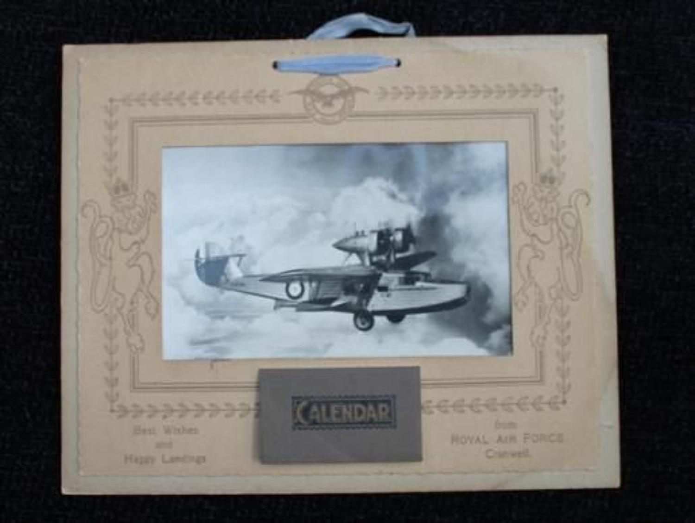 1940 Dated RAF Cranwell Calendars