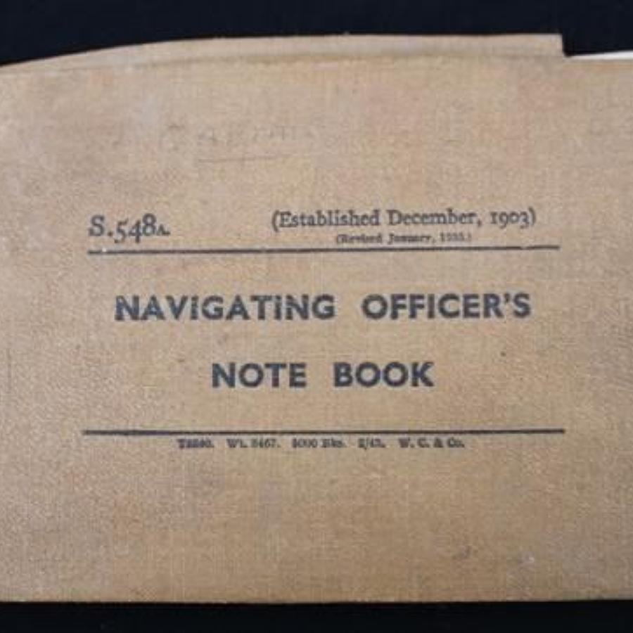 Navigating Officers Note Book D-Day Interest