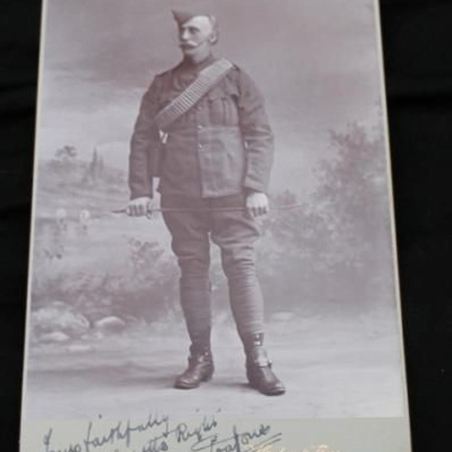 Boer War Period Cabinet Photograph