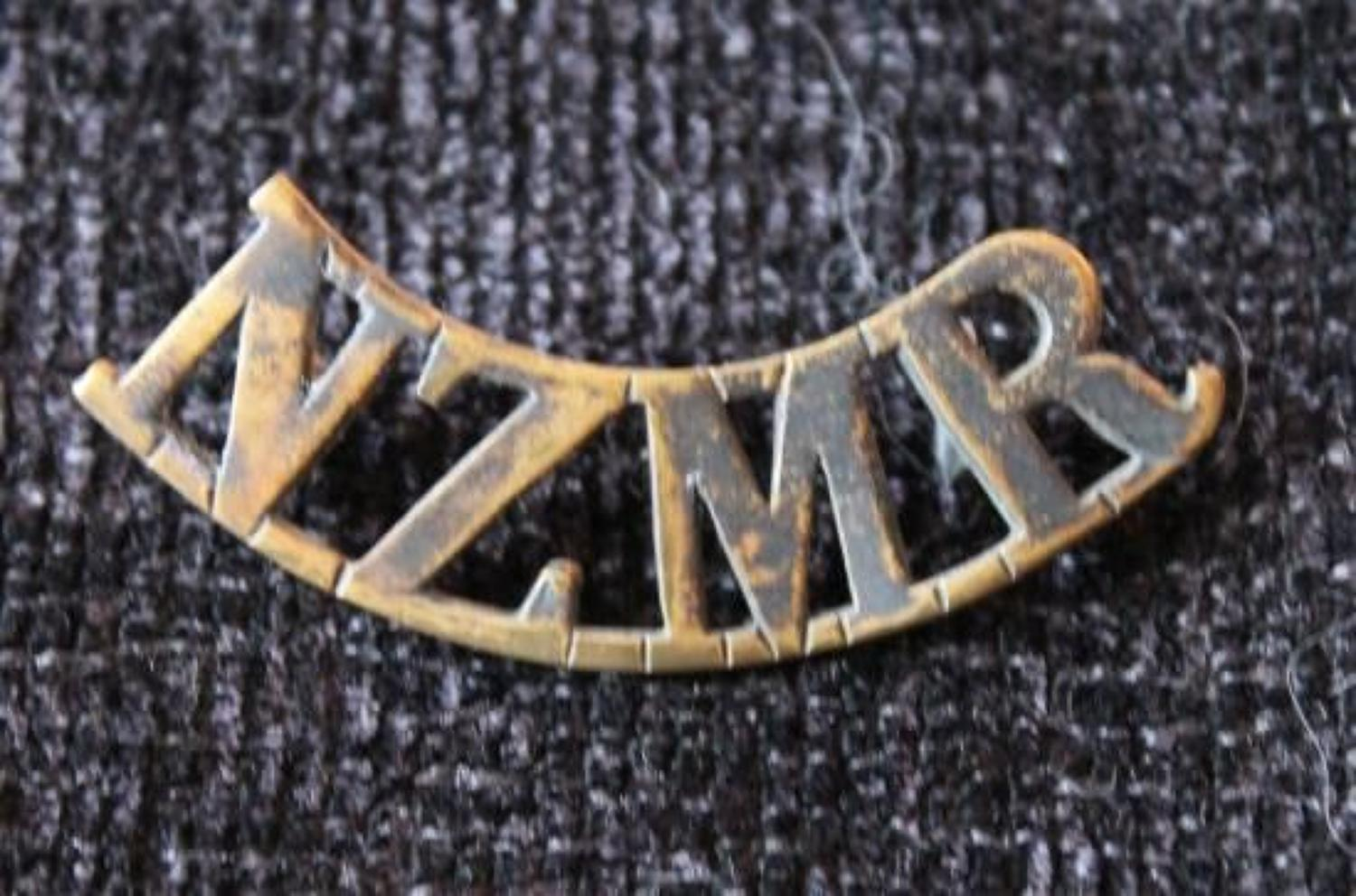New Zealand Mounted Rifles Shoulder Title