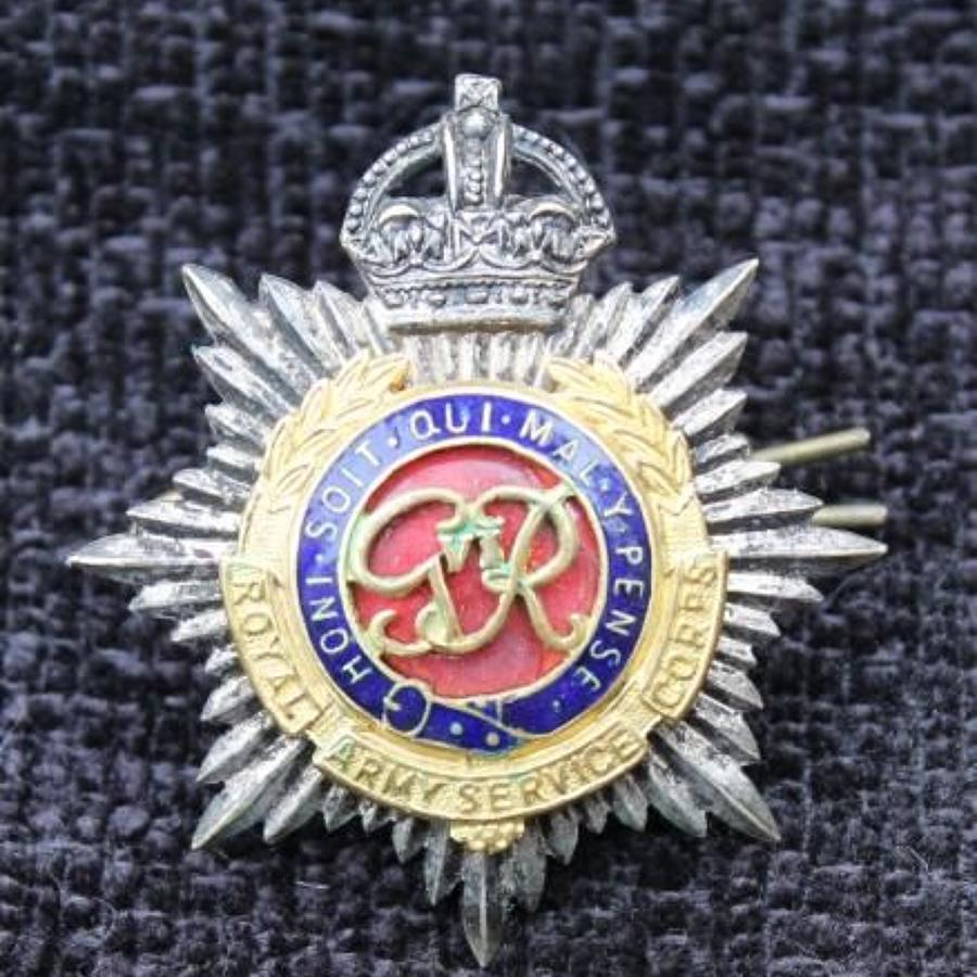 Army Service Corps Officers Cap Badge