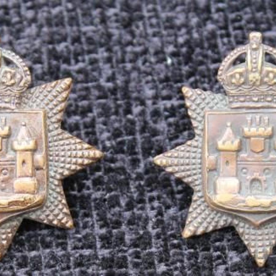 East Sussex Regiment Bronze Collars