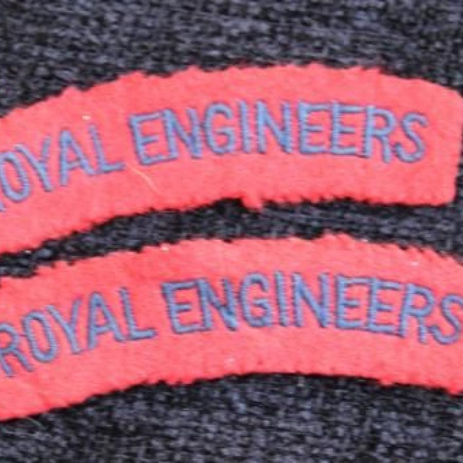 Embroidered Royal Engineers Titles