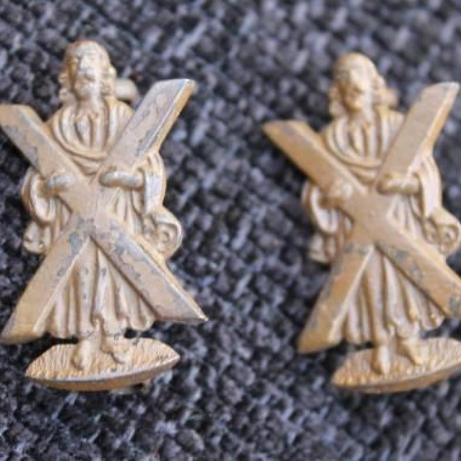 WW1 Black Watch Bronze Officers OSD Collars