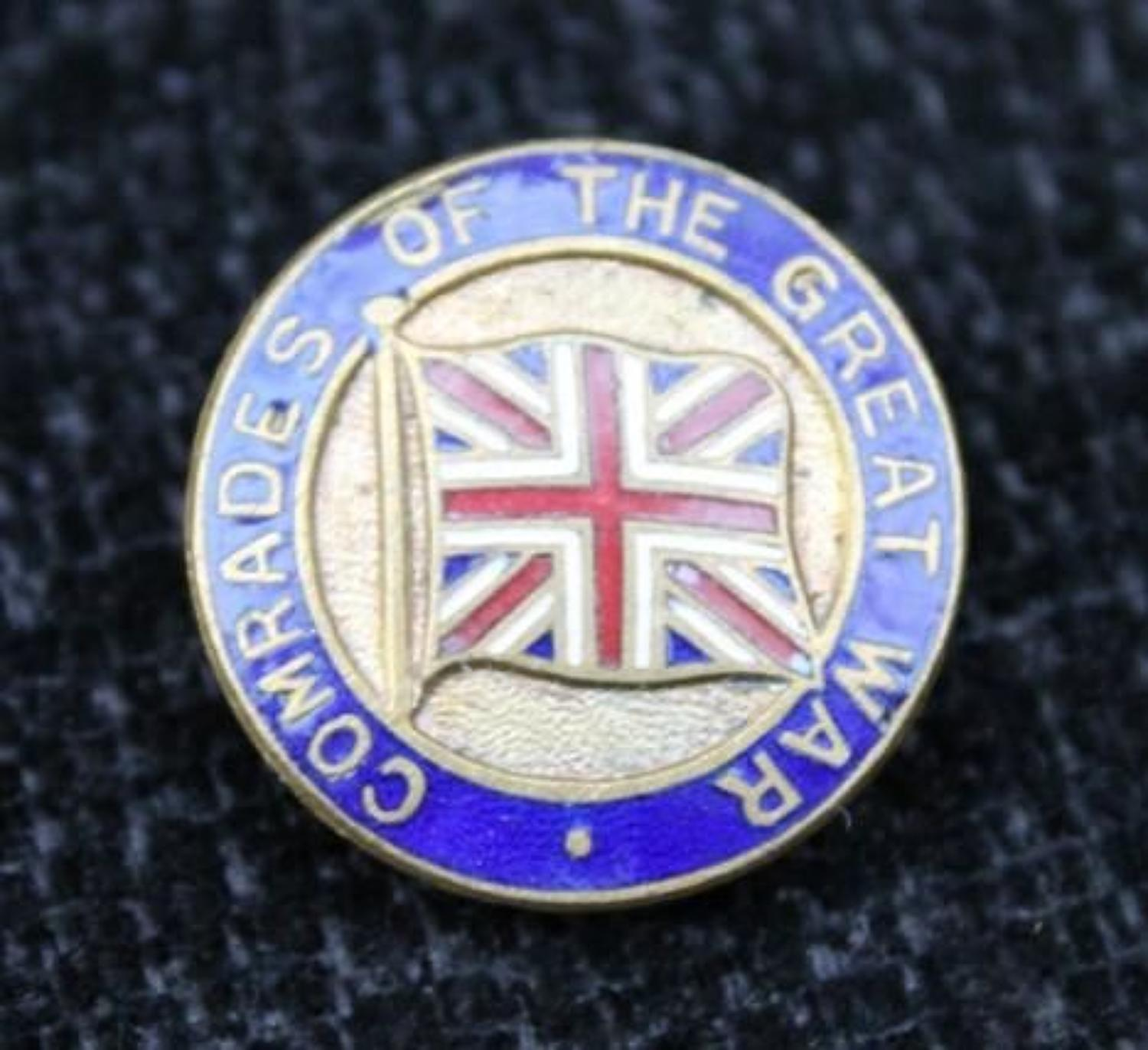Comrades Of The Great War Pin Badge
