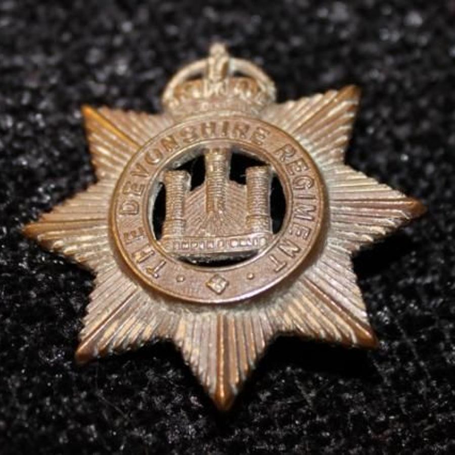 Bronze OSD Devonshire Regiment Badge