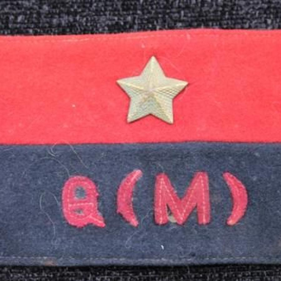 GHQ India Quartermaster Armband