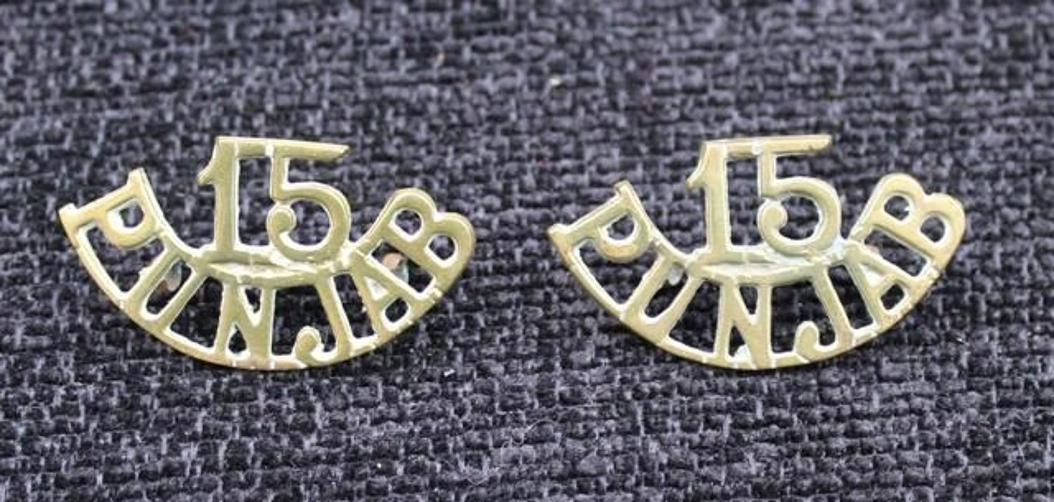 15th Punjabs Brass Shoulder Titles