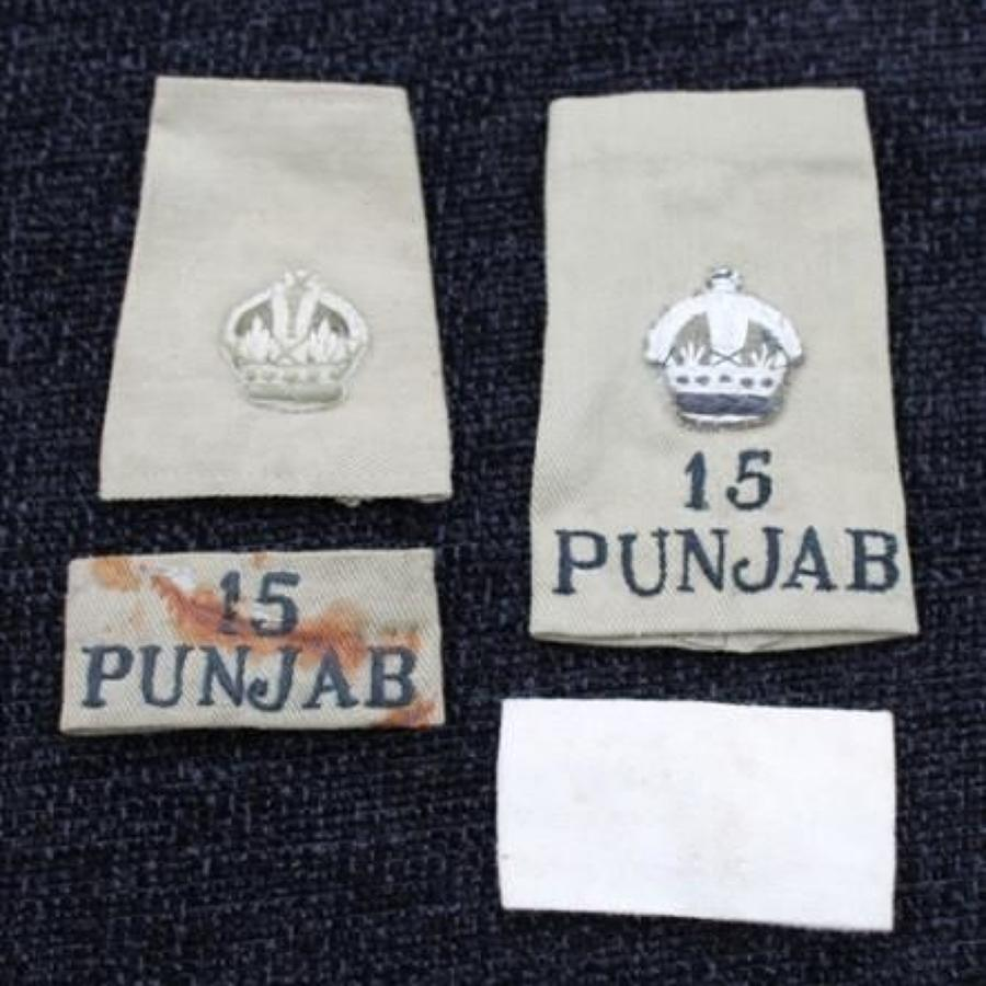 15th Punjabs Insignia Grouping