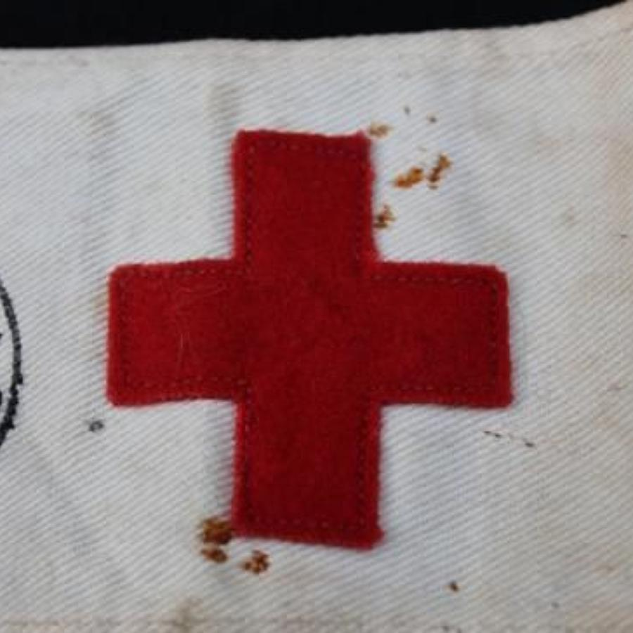 WW1 VAD Arm Band And Cloth Patch
