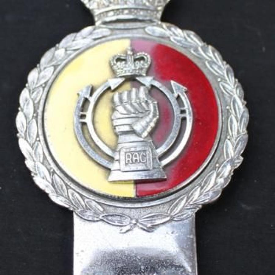 Royal Armoured Corps Car Mascot