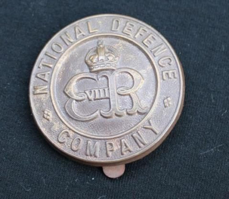 National Defence Company Badge ERVIII